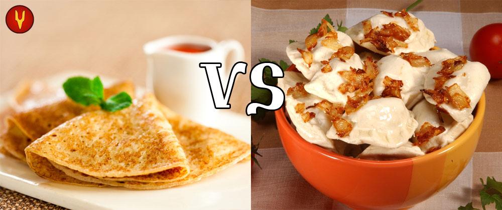 pancake vs vareniki